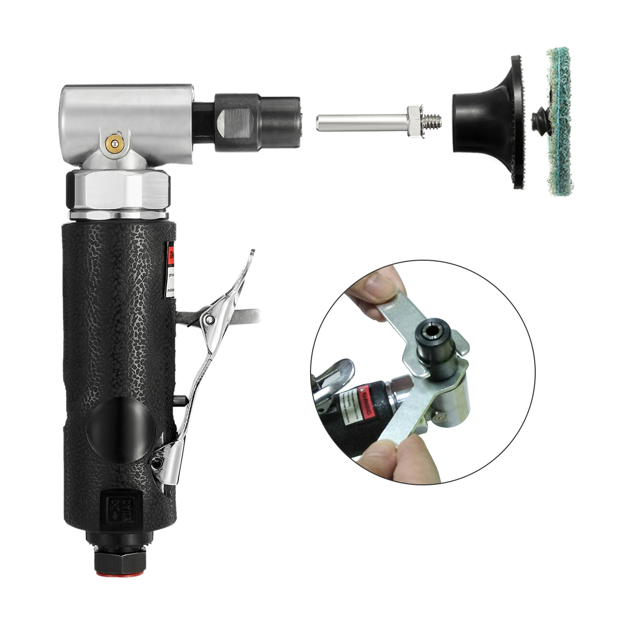 1/4'' Air Die Grinder, 22000RPM/90Degree Air Angle