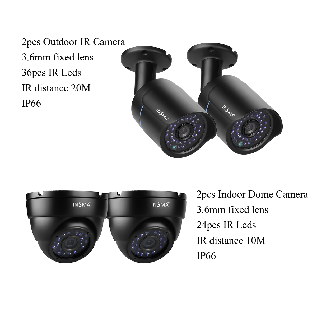 720p DVR Kit CCTV Monitor Security Camera System
