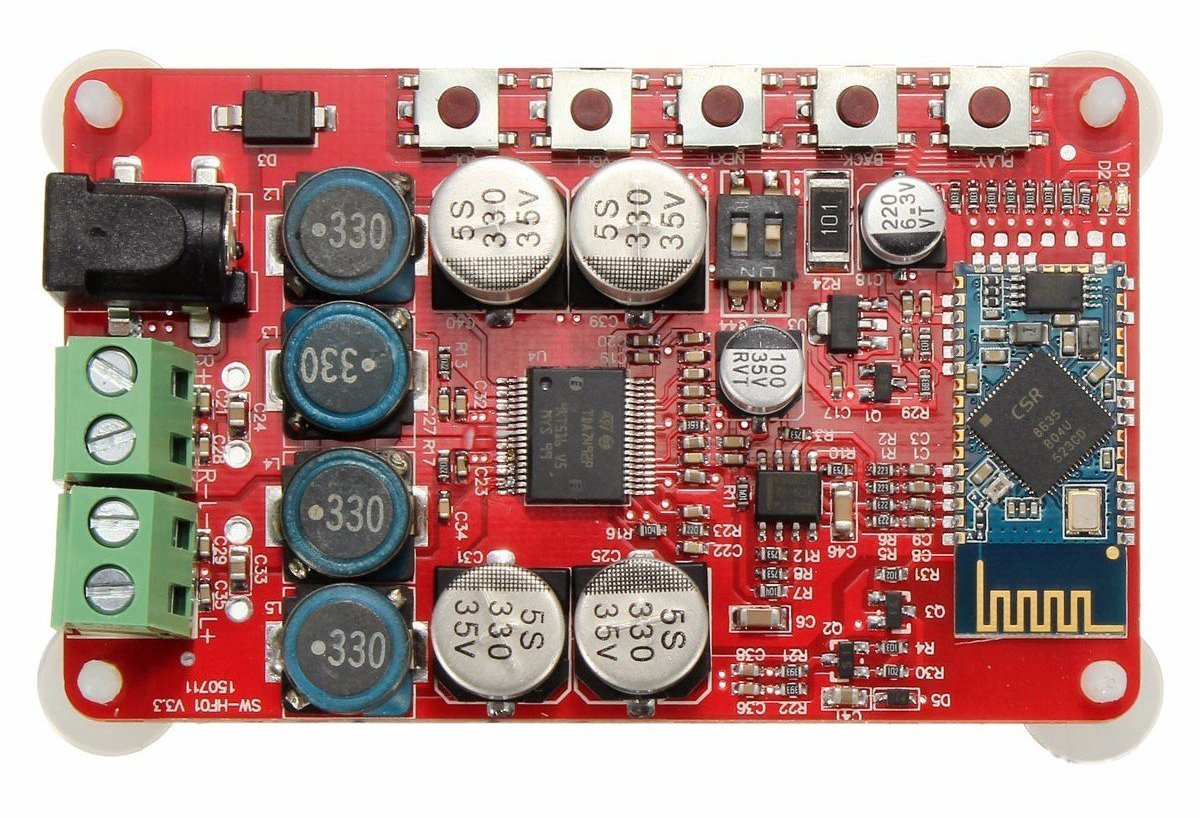 TDA7492P Audio Receiver Amplifier Board Bluetooth Module 25W Dual Channel Red